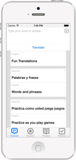 English to Spanish Translation Features