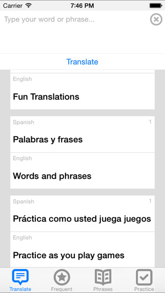Simple to use translation app